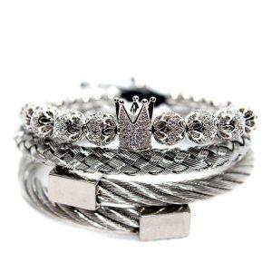 New York, Los Angeles, Chicago, Houston, Phoenix, Philadelphia, San Antonio, San Diego, Dallas, San Jose, Austin, Jacksonville, Fort Worth, Columbus, Charlotte, San Francisco, Indianapolis, Seattle, Denver, Washington, King Crown Bracelet Set, King Crown Bracelets, King Queen Crown Bracelet, Men's Diamond Bracelet In Stainless Steel, Men's Diamond Jewelry For Sale, Men's Double Braided Bracelet, Men's King Crown Bracelet, Mens Beaded Bracelets Jewelry, Mens Bracelet, Mens Bracelet Online, New York Bracelet Silver Jewelry for men
