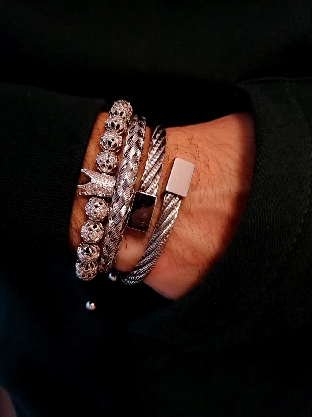 Silver Crown Bracelet Mobile