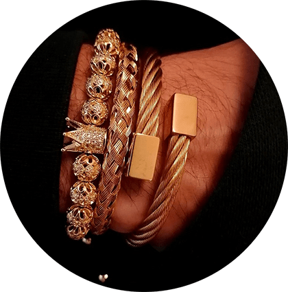 Crown Bracelet Rose Gold Athens
