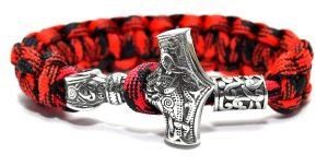 Thor Bracelet Red, Bracelet Wolf Los Angeles