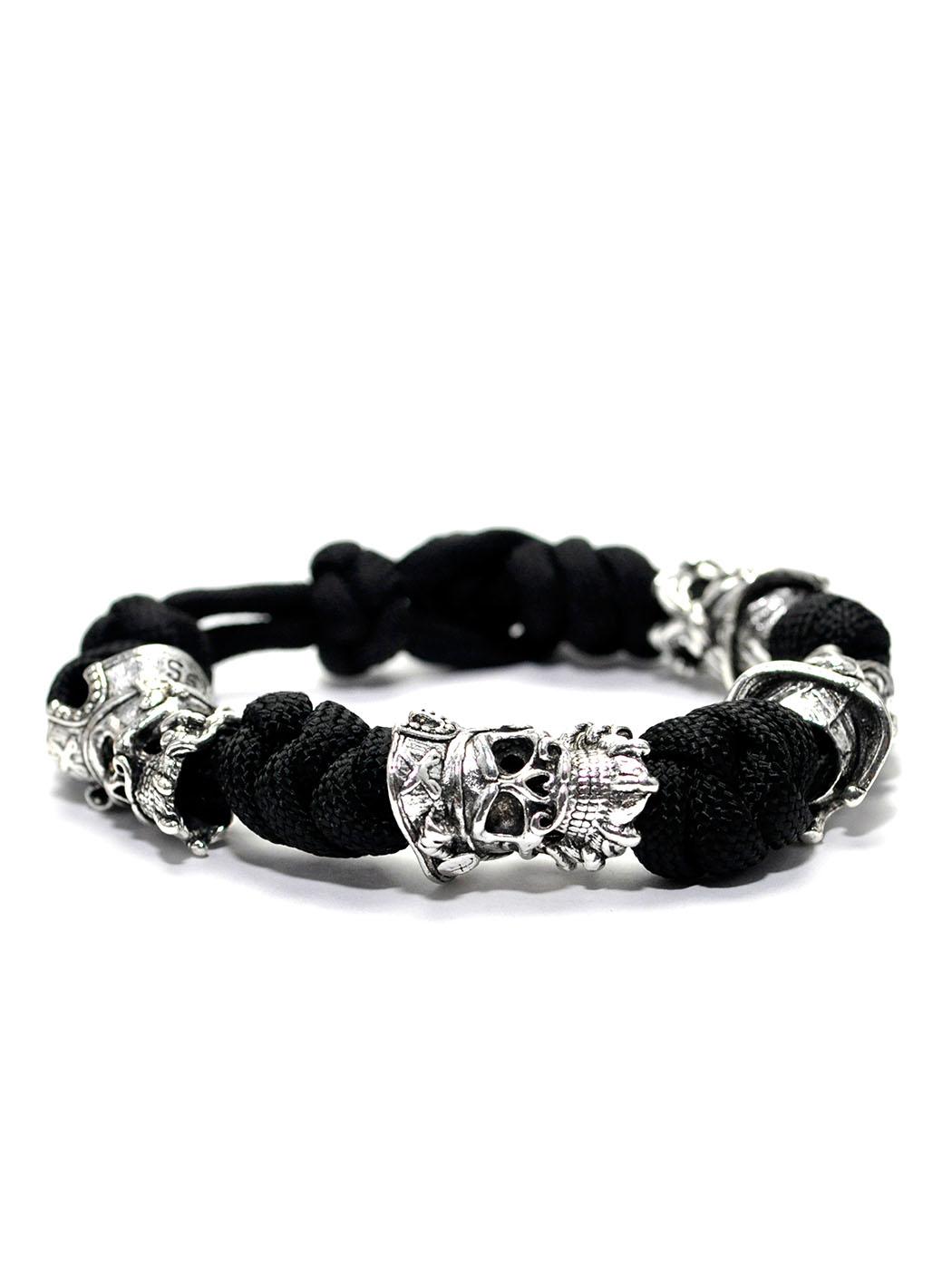Blackbeard Bracelet Black, Norse Leather Bracelet
