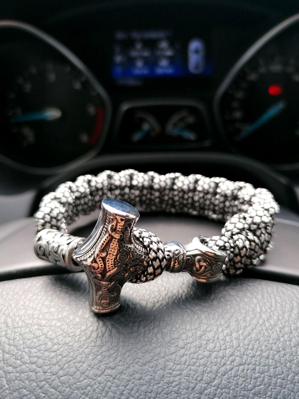 Solid Gold Viking Bracelet