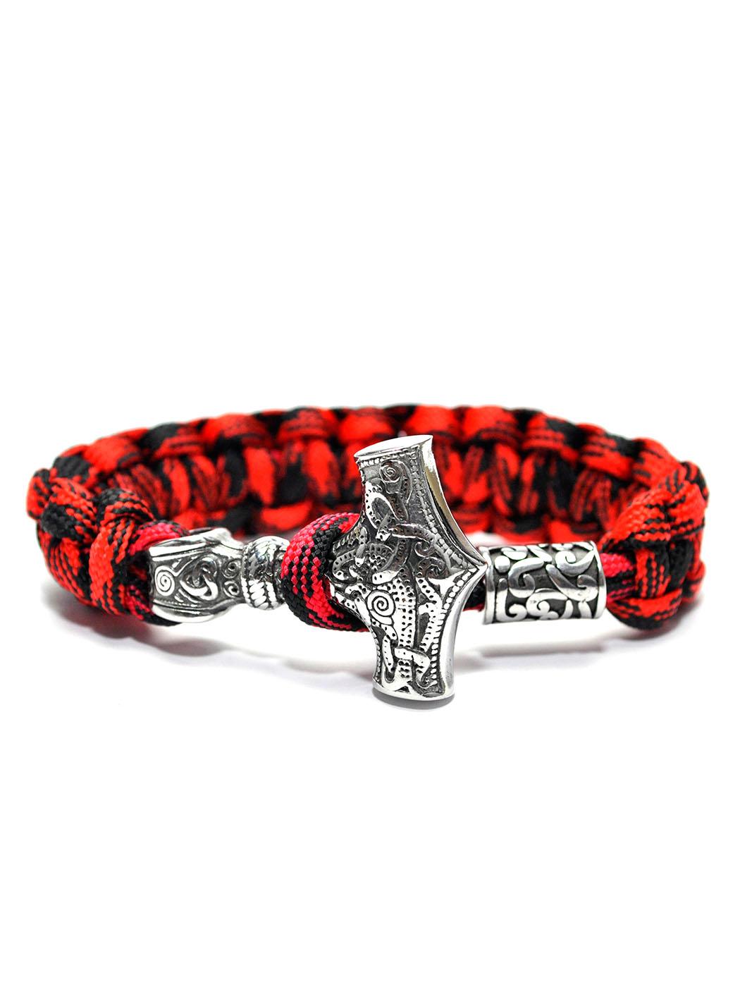 Thor Bracelet Red, Thor Bracelet Viking Nordic Mythology Amazon Deals Coupons New York