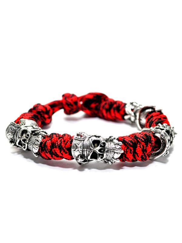 Blackbeard Bracelet Red, Viking Fealty Bracelet