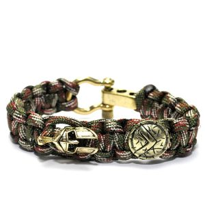 Spartan Bracelet Brown, Viking Leather Wrist Cuff