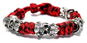 Blackbeard Bracelet Red, Wolf Paracord Bracelet